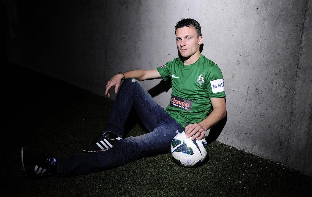 2012. David Lafata pózuje při focení pro Sport Magazín