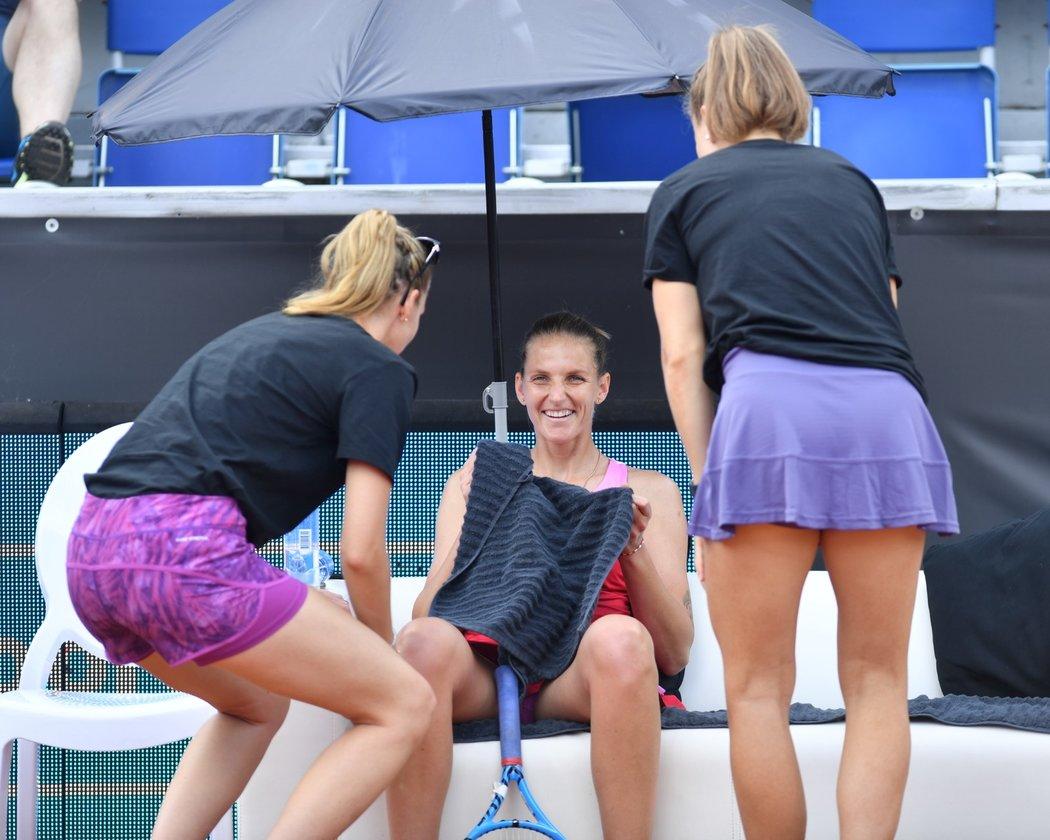 Karolína Plíšková se svými parťačkami při Tipsport Elite Trophy