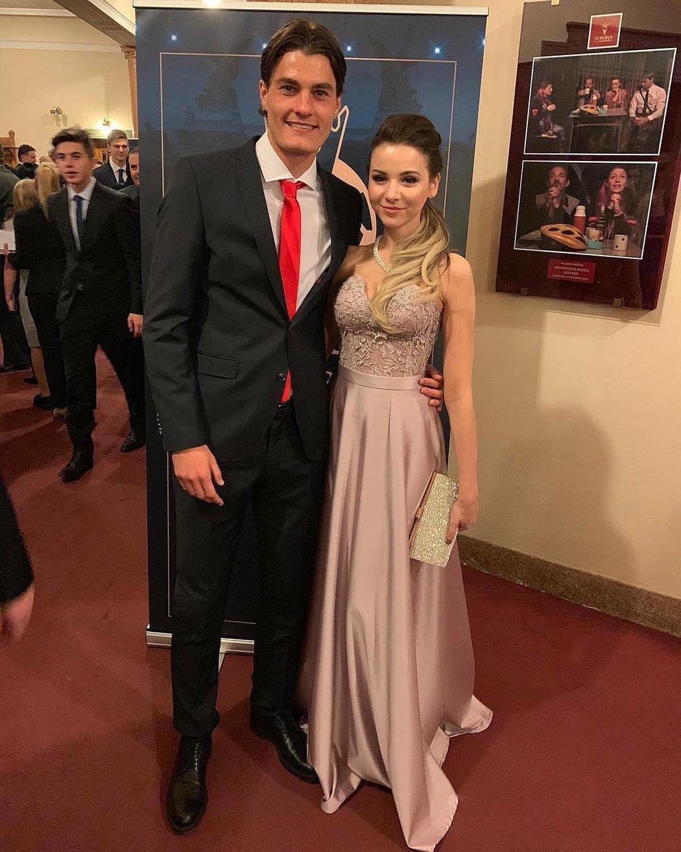 Patrik Schick se svou přítelkyní Hanou