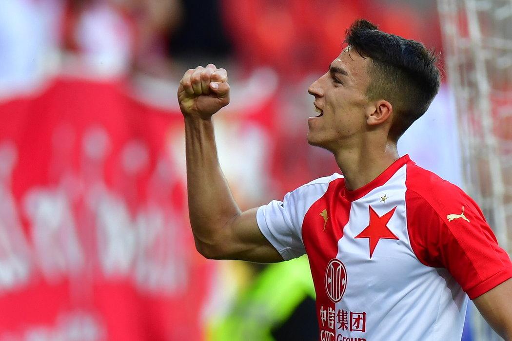 Petar Musa po svém druhém gólu v zápase