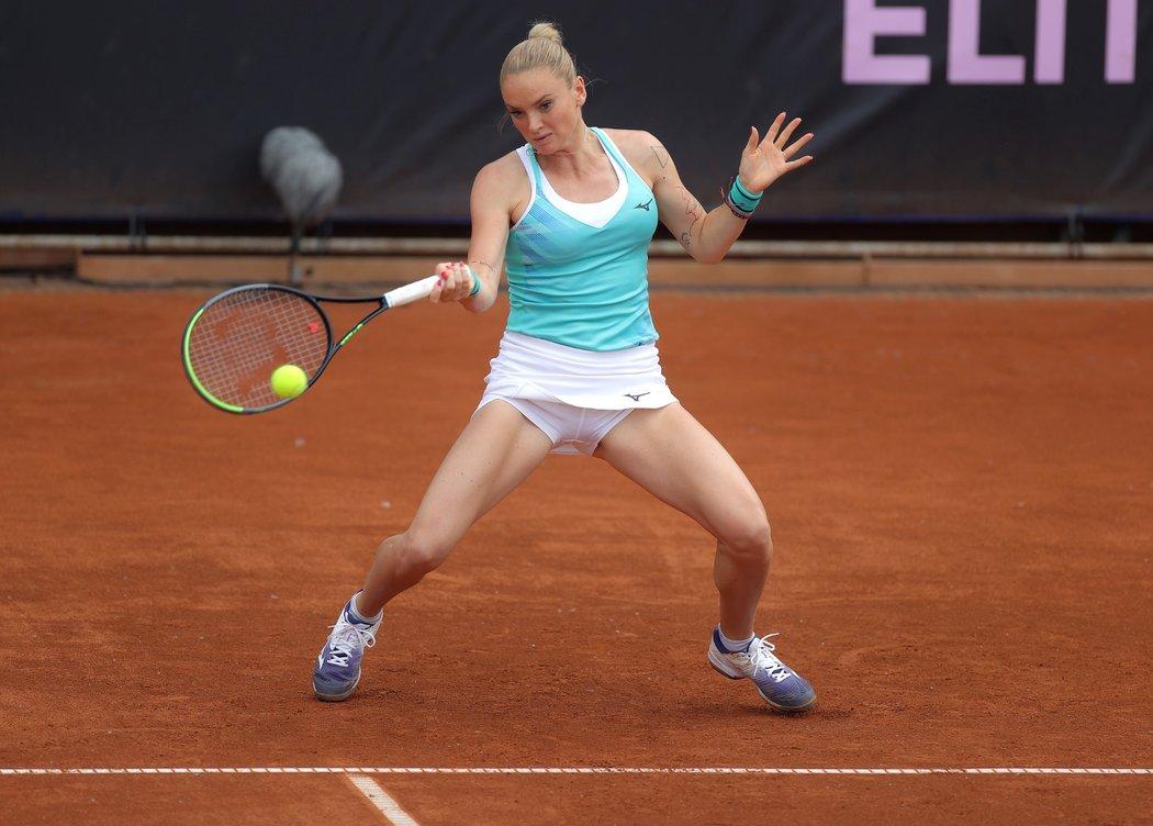 Tereza Martincová v jednom z karanténních turnajů v Česku