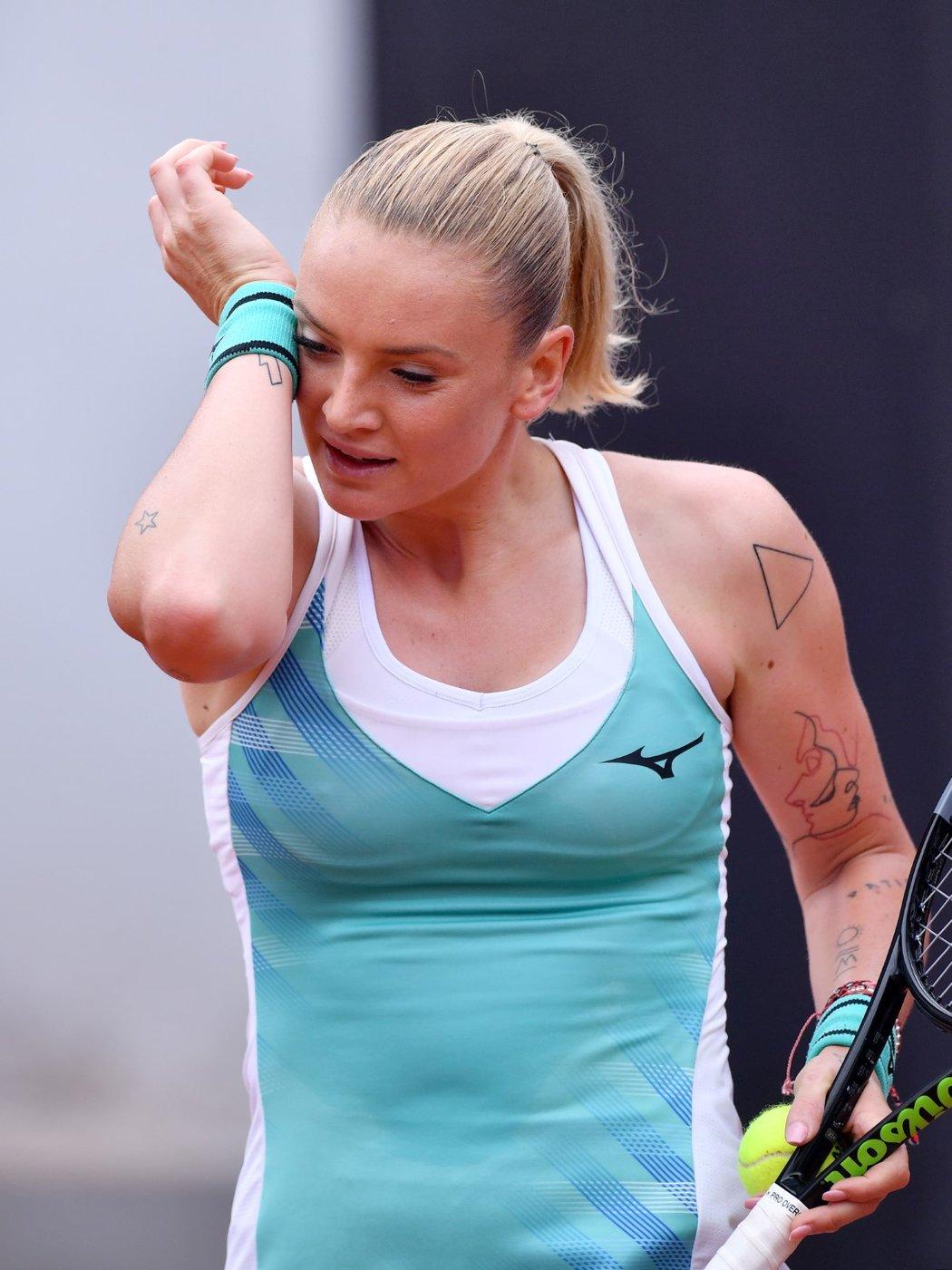 """""""Tenis je stále brán jako sport elegánů a tetování je sním pro některé neslučitelné,"""" vysvětluje Martincová"""
