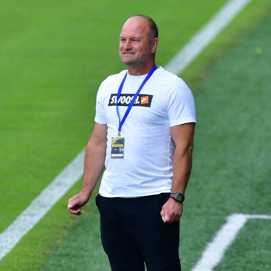 Trenér Liberce Pavel Hoftych během utkání s Mladou Boleslaví o účast v předkolech Evropské ligy