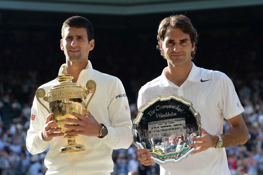 2014 - Roger Federer prohrál ve finále Wimbledonu s Novakem Djokovičem