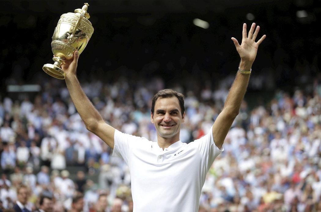 2017 - Roger Federer vyhrál poosmé slavný Wimbledon