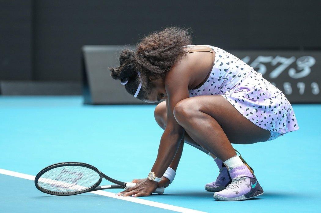 Serena Williamsová po narození dcery nesbírá tituly tolik jako dřív
