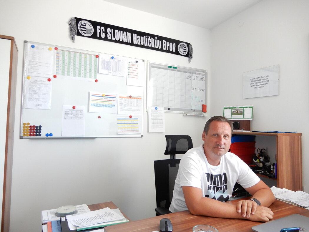 Pavel Mazánek, předseda Slovanu Havlíčkův Brod