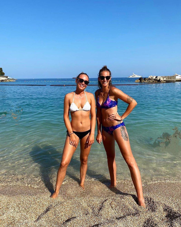 Karolína Plíšková se v Monaku slunila s další krasavicí okruhu WTA Donnou Vekičovou