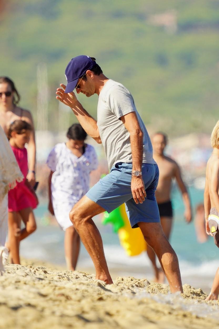 Roger Federer na dovolené