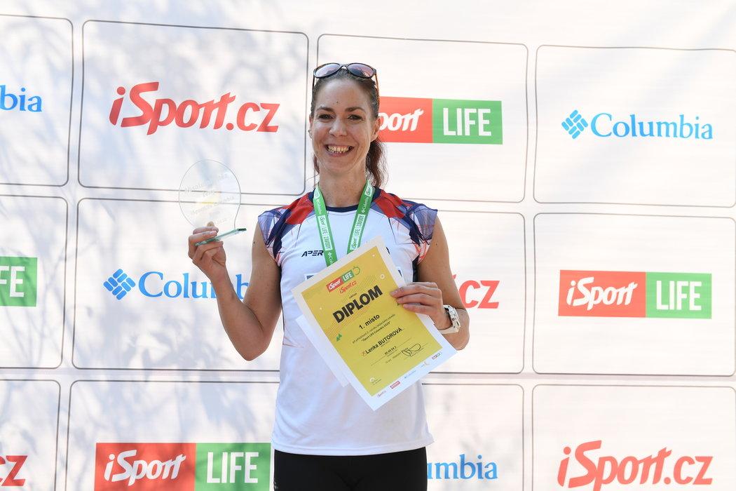 Vítězka ženského závodu iSport LIFE Columbia v Brně Lenka Butorová