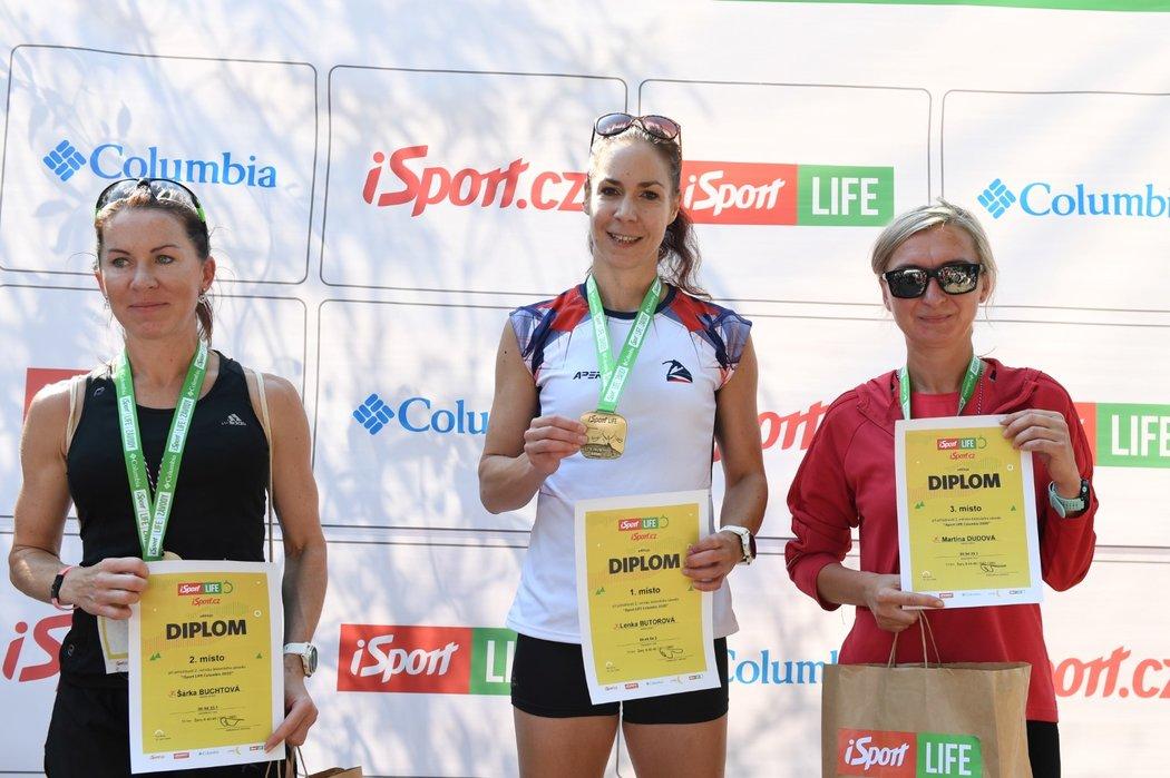 Nejlepší trojice ženského iSport LIFE Columbia závodu v brněnské zoo