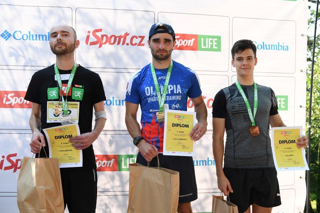 Tři nejlepší muži brněnského iSport LIFE Columbia závodu