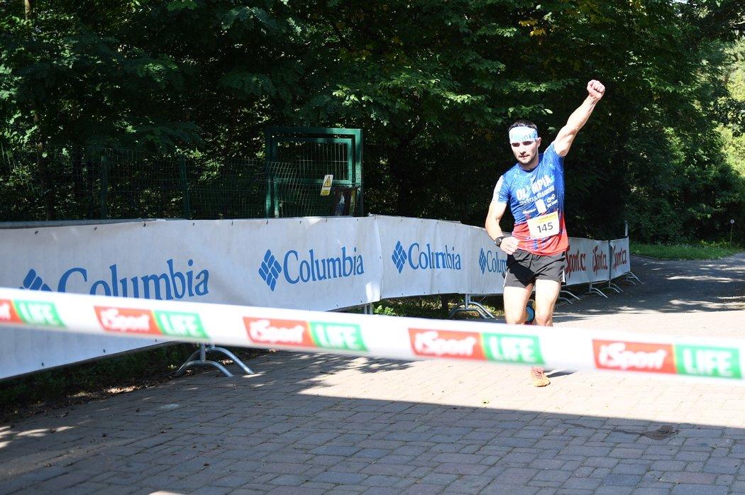 Do cíle míří nejrychlejší závodník dne, Jakub Vrbenský