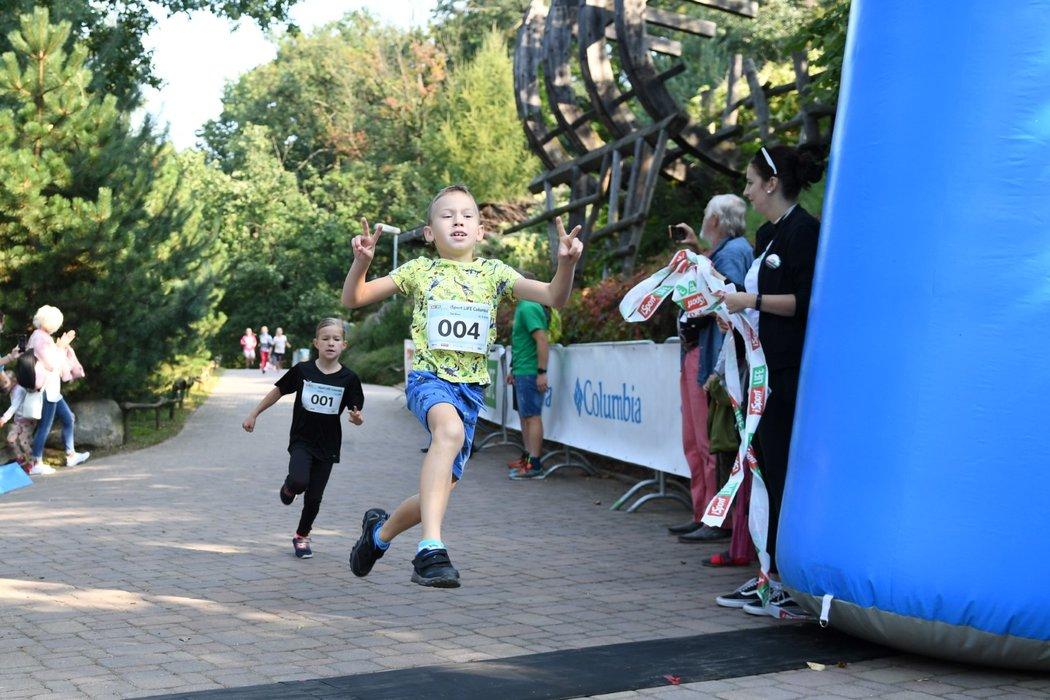 Úprk do cíle v podání nejmenších účastníků iSport LIFE Columbia závodů v brněnské zoo...
