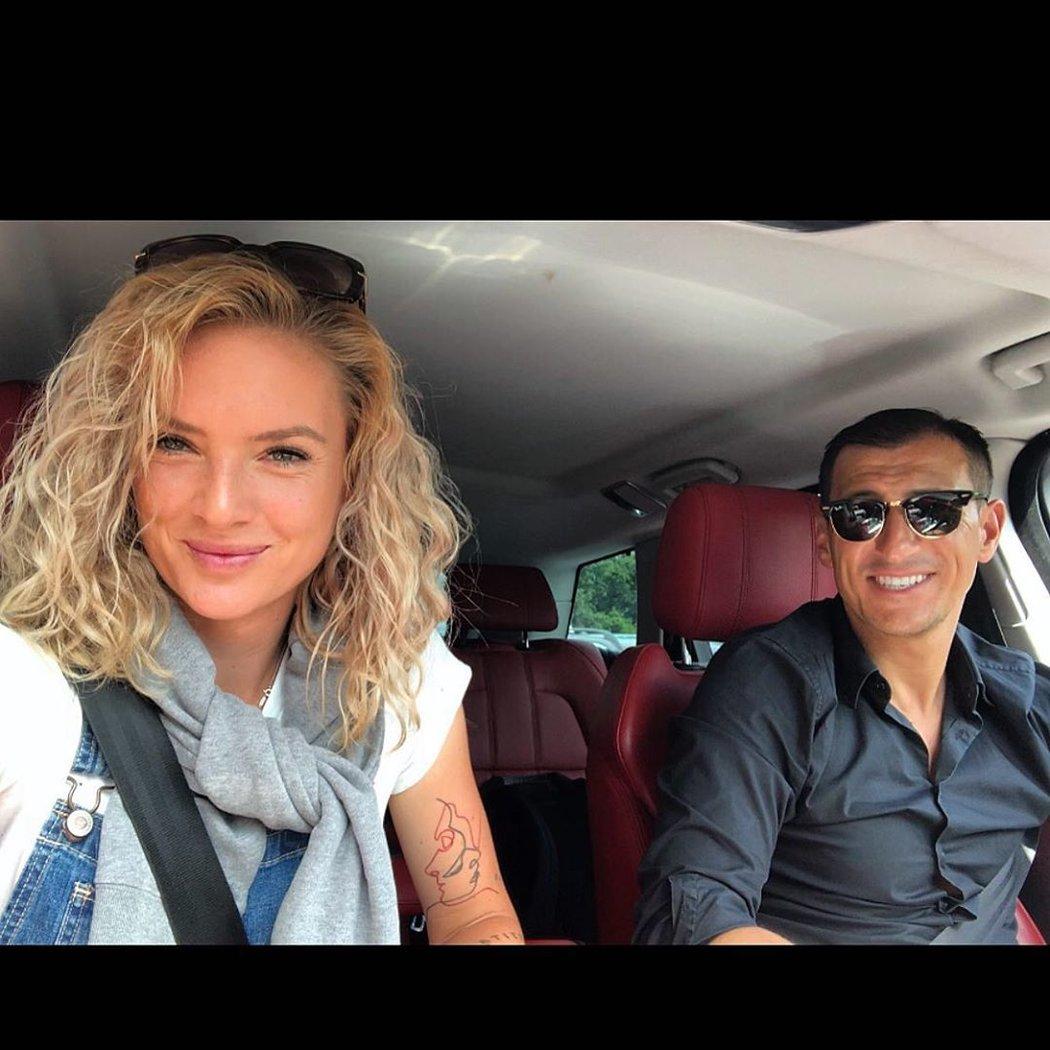 Tenistka Tereza Martincová s přítelem