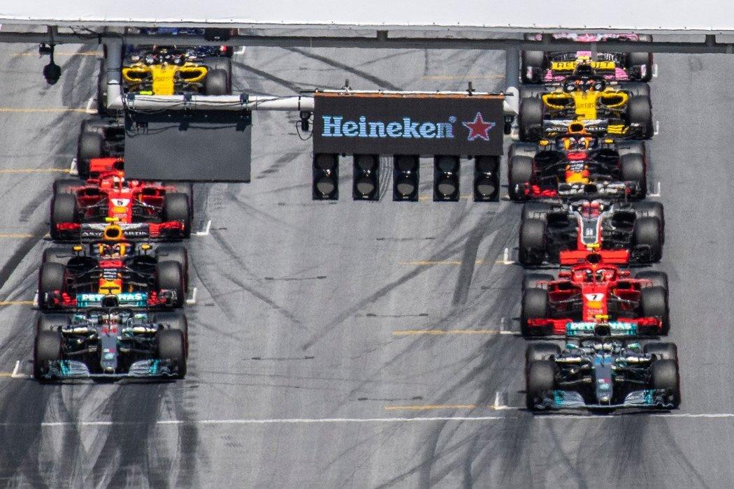 Start VC Rakouska formule 1