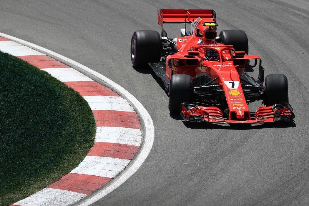 Kimi Räikkönen během svého angažmá ve Ferrari při VC Kanady