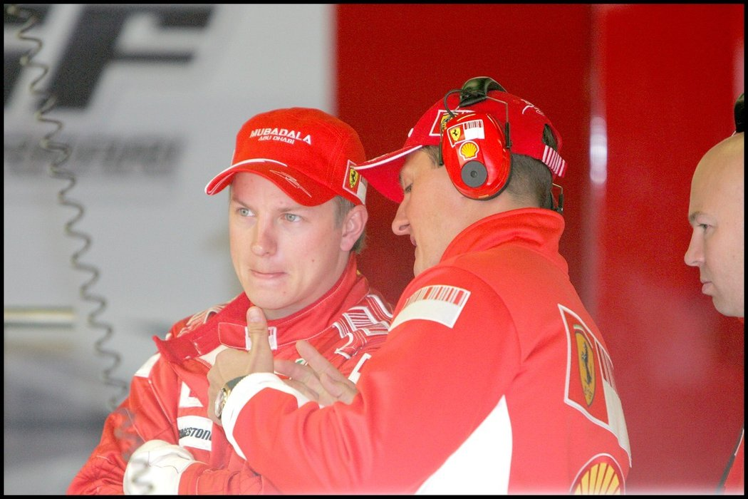 Kimi Räikkönen a Michael Schumacher