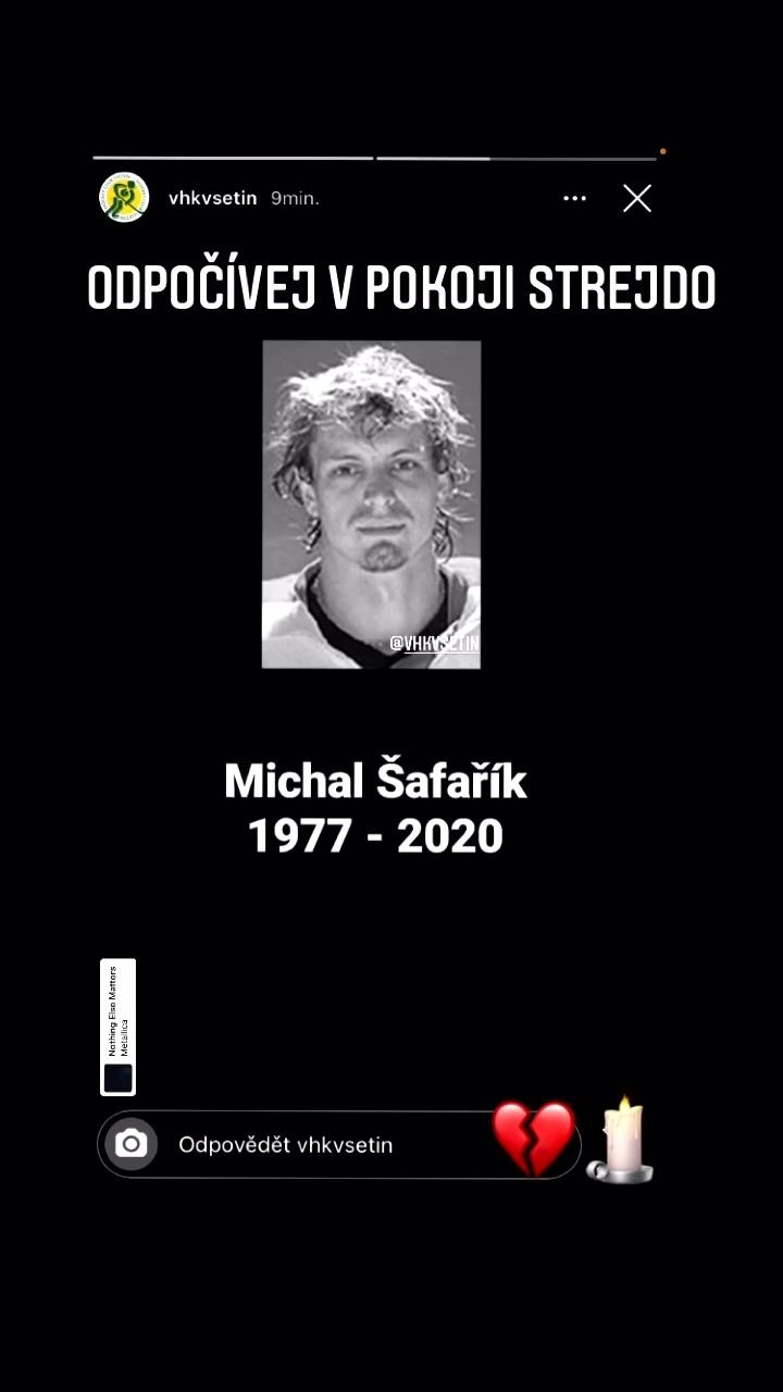 Bývalý hokejový obránce Michal Šafařík zemřel ve třiačtyřicetil letech
