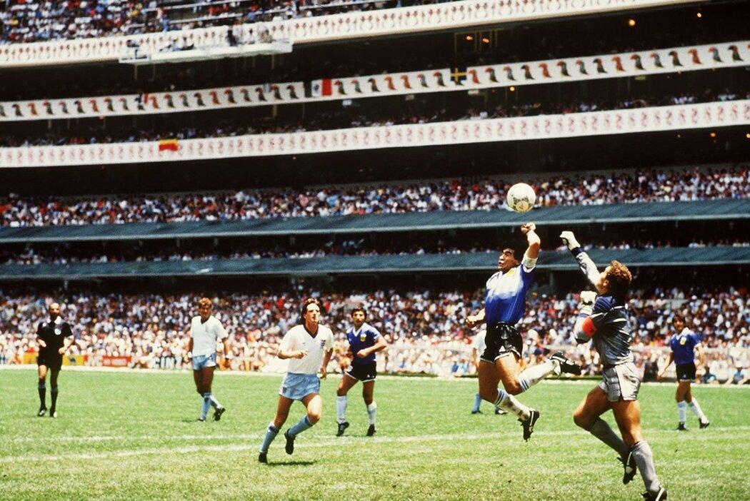 Boží ruka, gól Diega Maradony, který se vepsal do fotbalové historie