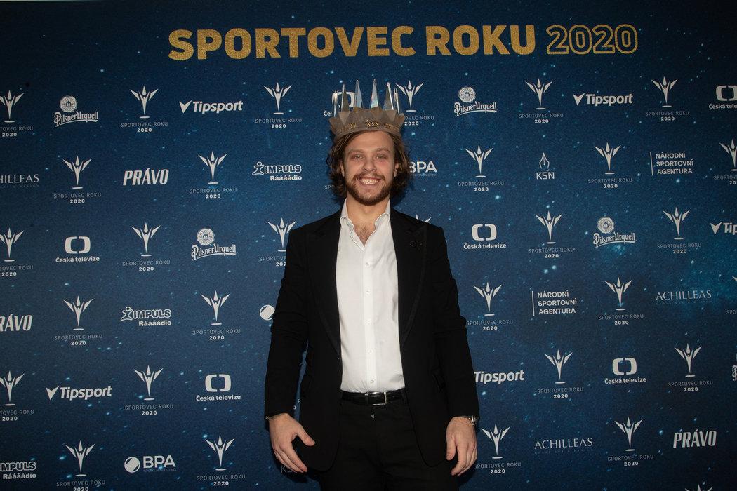 Král českých sportovců pro rok 2020 David Pastrňák