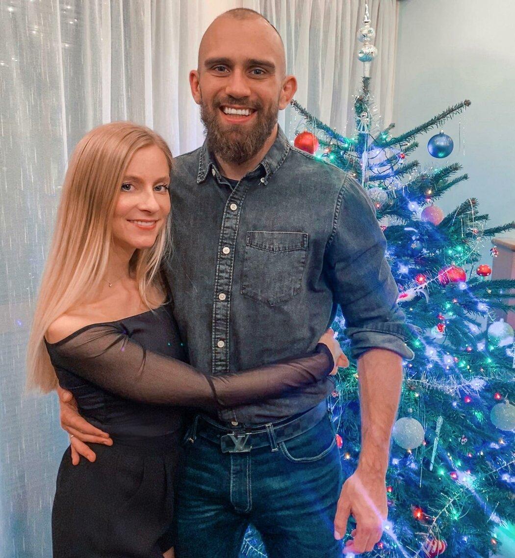 Zápasník Jan Malach prožil Štědrý den se svou ženou Pavlou