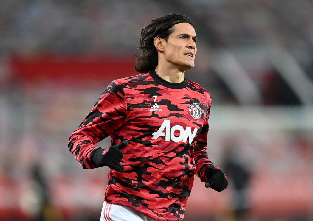 Uruguayský útočník Cavani v dresu Manchesteru United