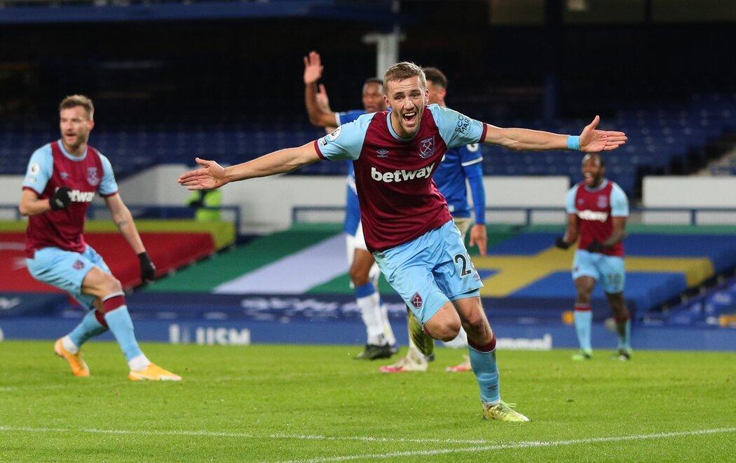 Tomáš Souček vstřelil první gól roku v Premier League