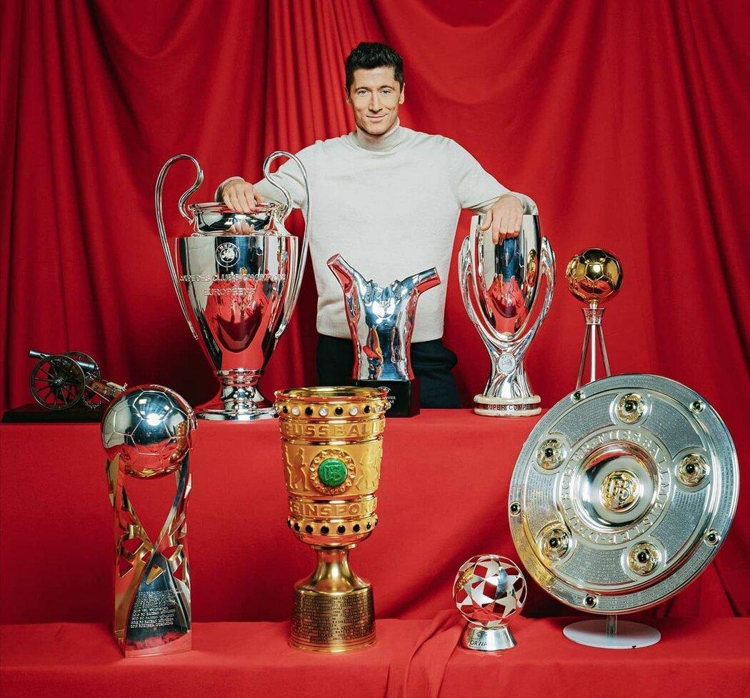 Lewandowski je každoroční sběratel trofejí