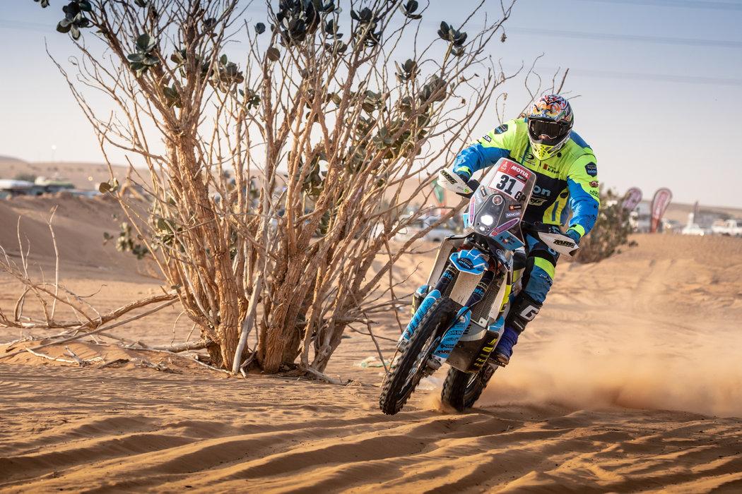Martin Michek na Dakaru překonal české maximum v kategorii motocyklů