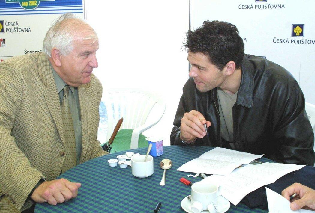 Jaromír Jágr a Otakar Černý v roce 2002
