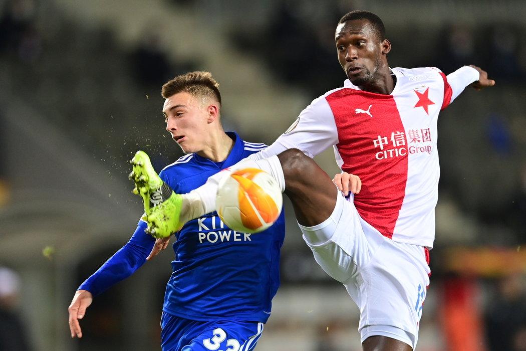 Abdallah Sima v utkání s Leicesterem