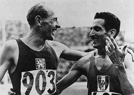 Emil Zátopek a Alain Mimoun