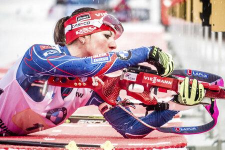 Jitka Landová zvládla udržet náskok a přispěla k českému triumfu v Ruhpoldingu