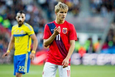Martin Ödegaard hraje za rezervu Realu Madrid