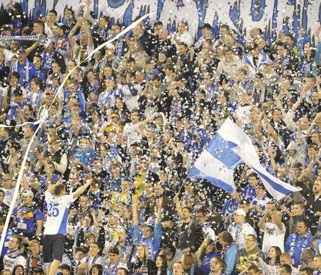 Fanoušci Baníku se radují z gólu