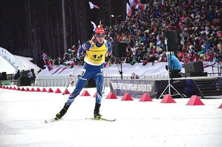 Biatlonista Jaroslav Soukup vybojoval na mistrovství Evropy stříbro v závodu s hromadným startem