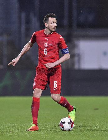 Tomáš Sivok v dresu národního týmu