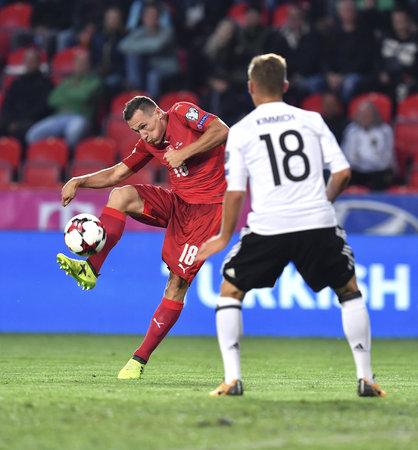 Obránce Jan Bořil v reprezentačním dresu proti Německu