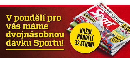 Kupte si pondělní deník Sport. Dostanete dvojnásobnou dávku sportovního zpravodajství!