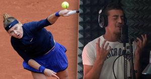 Lucii Šafářovou na French Open podporuje nový přítel Jakub Lustyk. Sbalil ji díky písničce.
