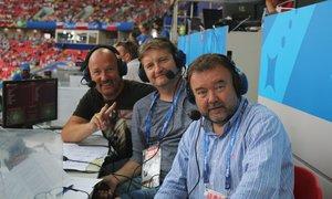 Takhle vypadalo komentátorské místo ČT na ruském šampionátu. Kdo si vedl nejlépe?