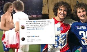 Společná fotka Davida Luize a Alexe Krále způsobila vlnu reakcí. Jedna z nich se dostavila i od hvězdného Neymara.