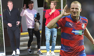 Zatímco ostatní fotbalisté plzeňské Viktory opuštěli ve čtvrtek jejich stadion, Krmenčík se vypařil asi kanálem...