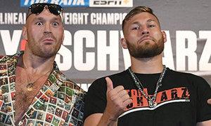Tyson Fury a Tom Schwarz se utkají ve sledované bitvě v Las Vegas