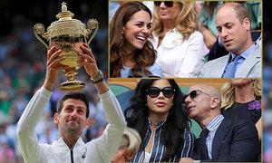 Vítězství Novaka Djokoviče ve Wimbledonu sledovala řada celebrit