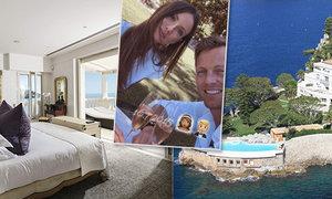 Tenista Tomáš Berdych s manželkou Ester oslavili čtyřleté výročí od svatby v luxusu na Azurovém pobřeží
