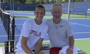 Karolína Plíšková si před US Open zatrénovala s legendou a nynějším komentátorem Johnem McEnroem!