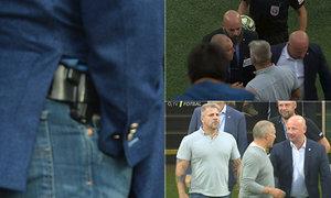 Bodyguard Adolfa Šádka byl v utkání s Libercem stále ve střehu
