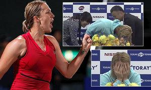 Anastasija Pavljučenkovová zažila na turnaji v Osace spoustu legrace